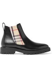 Burberry Leather Chelsea Boots Black