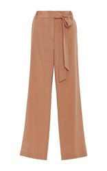 Tibi Relaxed Wide Leg Pants Brown