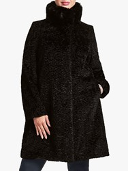 Four Seasons Astrakhan Faux Fur Coat Black