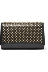 Christian Louboutin Paloma Spiked Leather Clutch Black