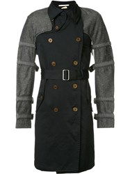 Comme Des Garcons Homme Plus Buckled Bondage Trench Coat Black