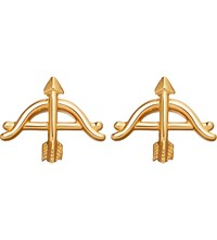 Astley Clarke Bow And Arrow Biography 18Ct Yellow Gold Plated Stud Earrings