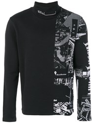 Blood Brother Search Roll Neck Sweater Cotton Xs Black