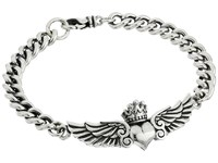 King Baby Studio Curblink Bracelet With Winged Crowned Heart Silver Bracelet