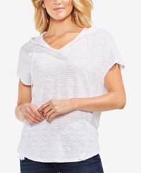 Vince Camuto Short Sleeve Hoodie Ultra White