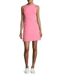 Michael Kors Sleeveless Button Trim Shift Dress Pink