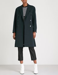 Moandco. Double Breasted Twill Jacket Dress Blues