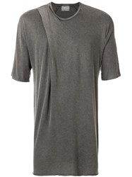 Lost And Found Ria Dunn Folded T Shirt Grey