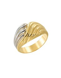 Lord And Taylor 14Kt. Yellow White Gold Twist Ring Two Tone Gold