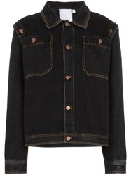 Telfar Detachable Sleeve Denim Jacket Blue