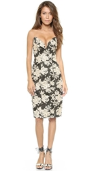 Zimmermann Lace Print Strapless Dress Petal