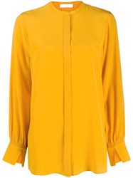 Dorothee Schumacher Fluid Silk Blouse Yellow