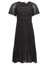 Sea Zinna Broderie Anglaise Cotton Dress Black