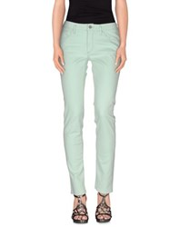 Manila Grace Denim Denim Denim Trousers Women Light Green