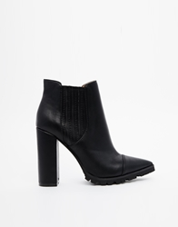 Asos Easy Money Pointed Chelsea Ankle Boots Black