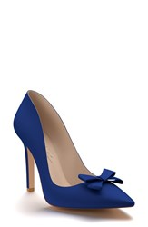 Shoes Of Prey Women's Pointy Toe Pump Royal Blue Silk