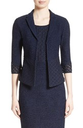 St. John Women's Collection Newport Knit Diamond Dot Jacket