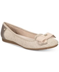 Anne Klein Alivia Slip On Ballet Flats Natural