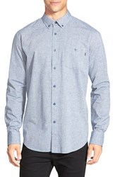 Men's Obey 'Benson' Slim Fit Long Sleeve Chambray Shirt Indigo