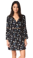 Ella Moss Adara Floral Dress Black