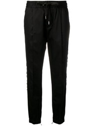 Dolce And Gabbana Branded Track Trousers Black