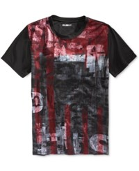 William Rast Men's Dripping Graphic Print T Shirt Dripping Print