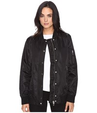 Blank Nyc Black Bomber Jacket In Super Freak Super Freak Women's Coat