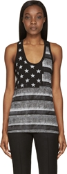 Givenchy Grey And Black American Flag Tank