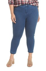 Lysse Plus Size Cigarette Denim Leggings Mid Wash