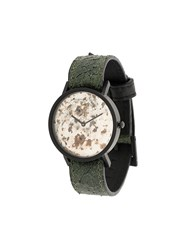 South Lane Avant Unique Watch Stainless Steel Calf Leather Green
