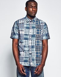 Huf Busy Patchwork Shirt Blue