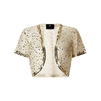 Ariella Vera Sequin And Bead Bolero Gold