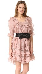 Zimmermann Winsome Ruffle Sphere Dress Mink