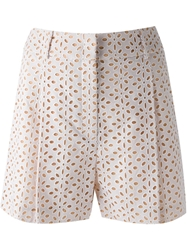 Michael Kors Perforated Shorts White