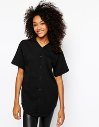 American Apparel Baseball Top Black