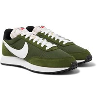 Nike Air Tailwind 79 Leather Trimmed Suede And Shell Sneakers Green