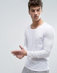 Asos Long Sleeve T Shirt With Scoop Neck In White White