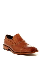 Stacy Adams Brecklin Medallion Cap Toe Loafer Brown