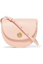 Mansur Gavriel Saddle Mini Leather Shoulder Bag Pastel Pink