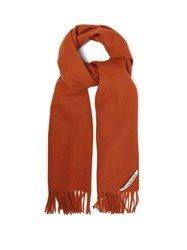 Acne Studios Canada Fringed Wool Scarf Orange