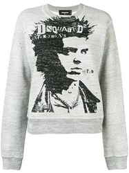 Dsquared2 Printed Jumper Grey