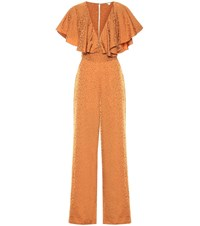 Johanna Ortiz Poetry In Motion Jacquard Jumpsuit Brown