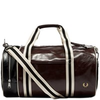 Fred Perry Authentic Colour Block Barrel Bag Burgundy