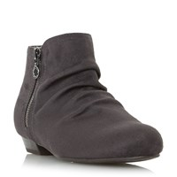 Head Over Heels Pammy Side Zip Detail Ankle Boots Grey