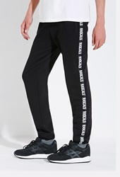 Forever 21 Rascals Band Sweatpants Black White
