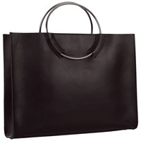 Jaeger Ring Handle Tote Black
