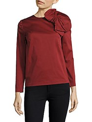 Raoul Asheville Long Sleeve Top Soho Red