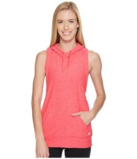 New Balance Hooded Tank Top Pullover Pomegranate Heather Women's Sleeveless Red