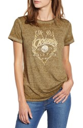Lucky Brand Journey Graphic Tee Olive Night