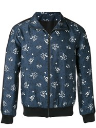 Paul And Joe Printed Sports Jacket Blue